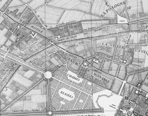 1761 map of Paris (detail)
