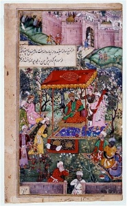 Babur at Agra