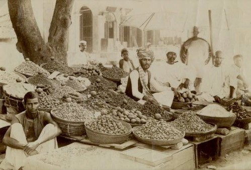 Indian spice market, c1875. Image from 19cphoto.com.